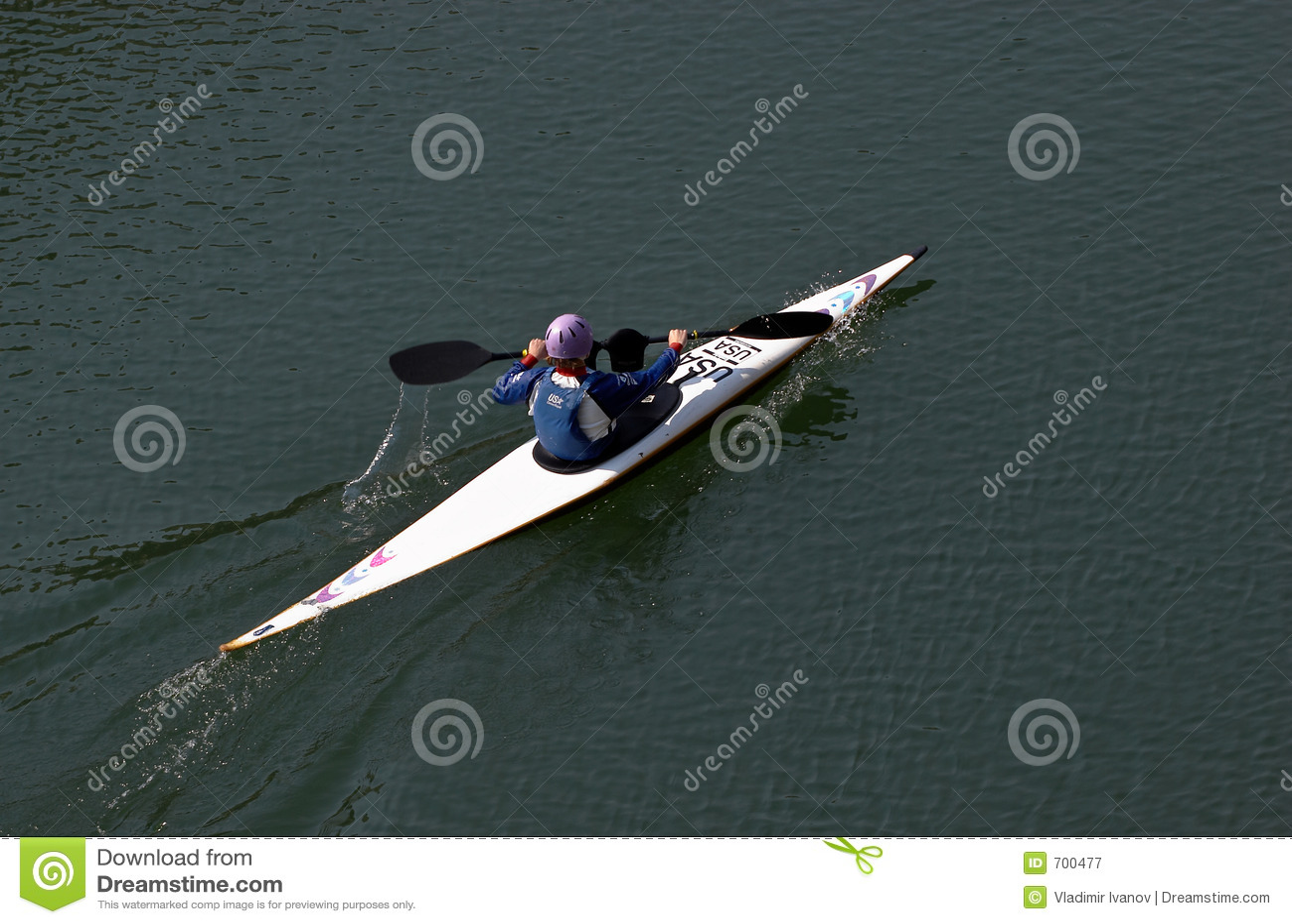 Woman in the canoe