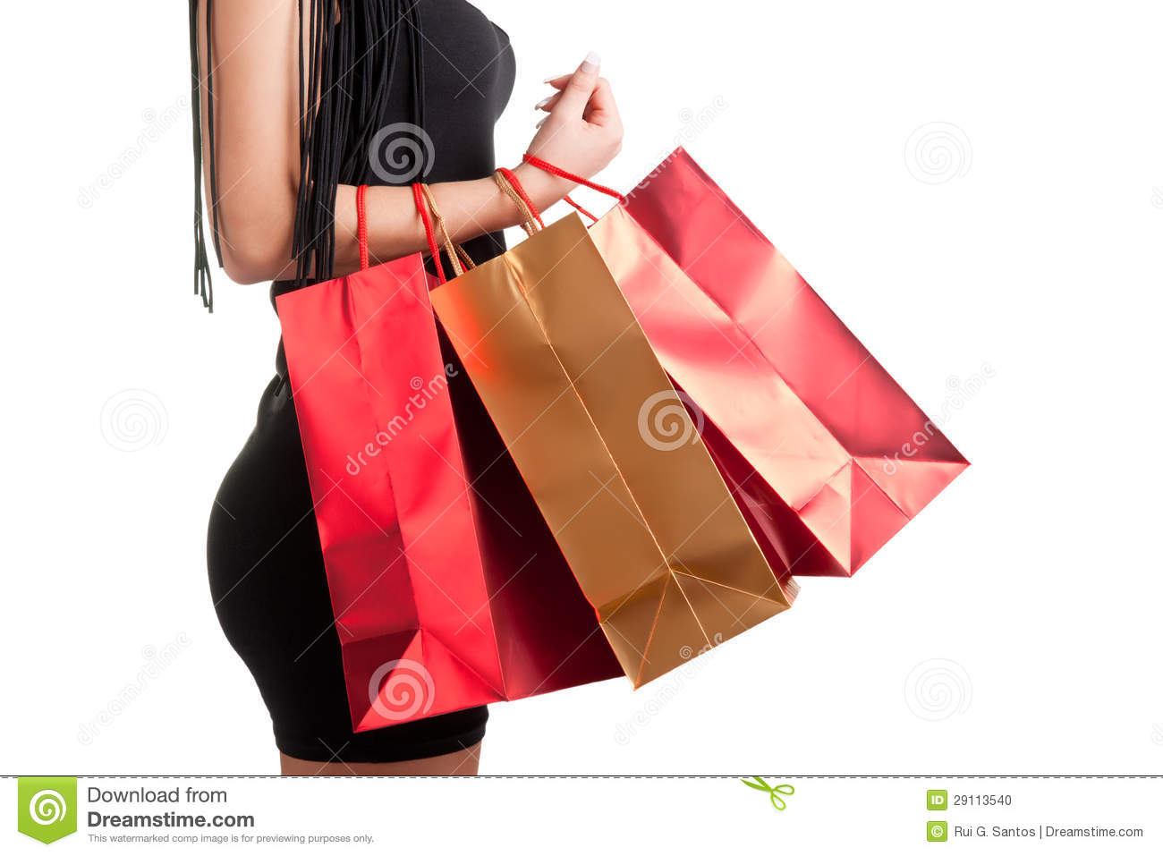 Woman Carrying Shopping Bags Stock Photo - Image: 29113540