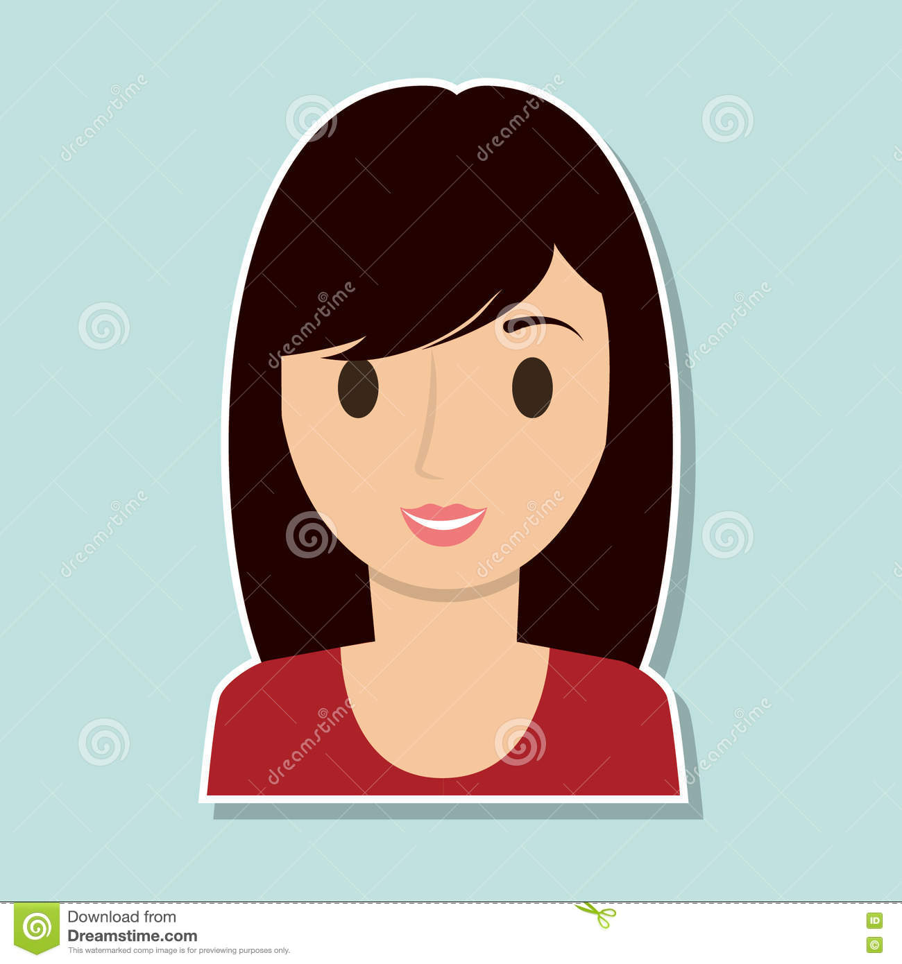 woman cartoon person design stock vector illustration of cheerful