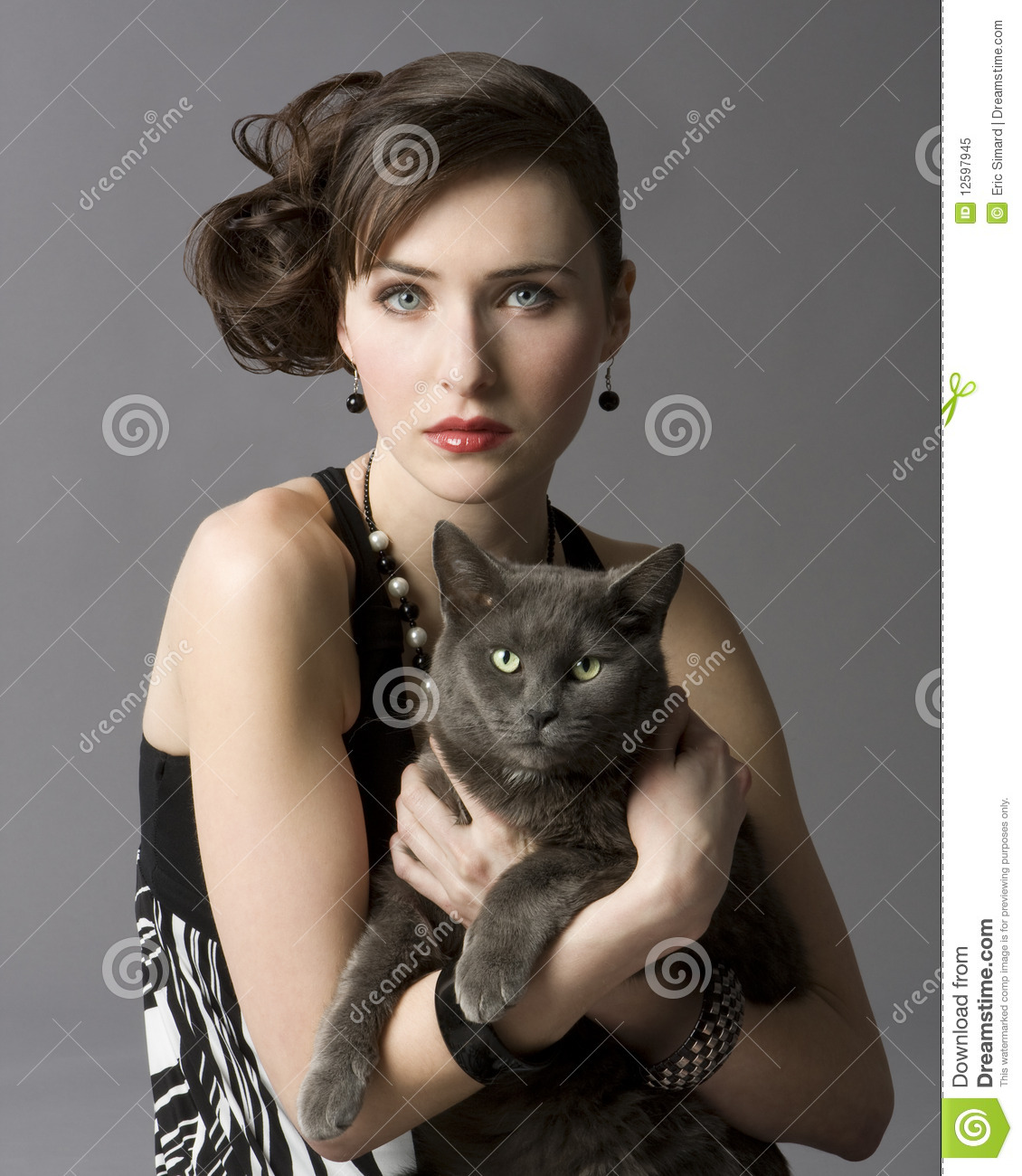 Woman With Cat Royalty Free Stock Photo - Image: 12597945 Smiling Dog And Cat