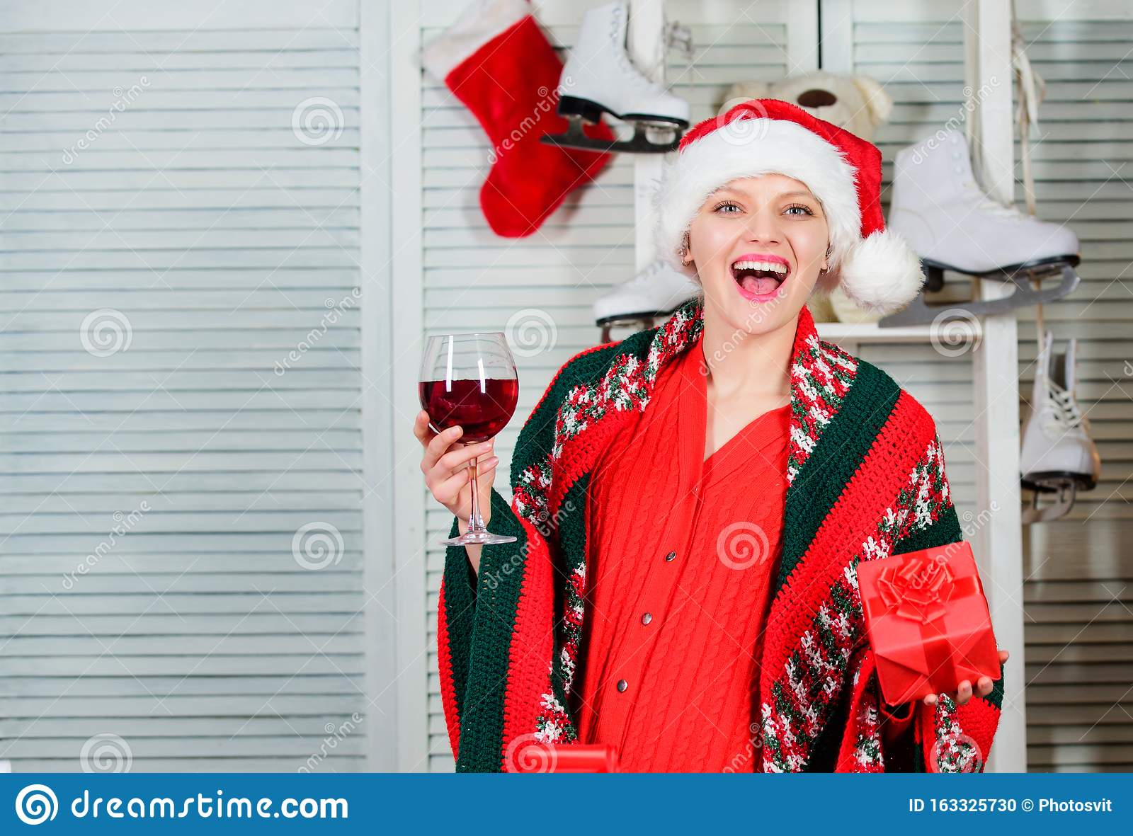 Što misliš da sada radi osoba iznad prikaži slikom - Page 24 Woman-celebrate-christmas-home-girl-santa-hat-ready-to-meet-new-year-cheers-christmas-eve-concept-christmas-toast-woman-163325730