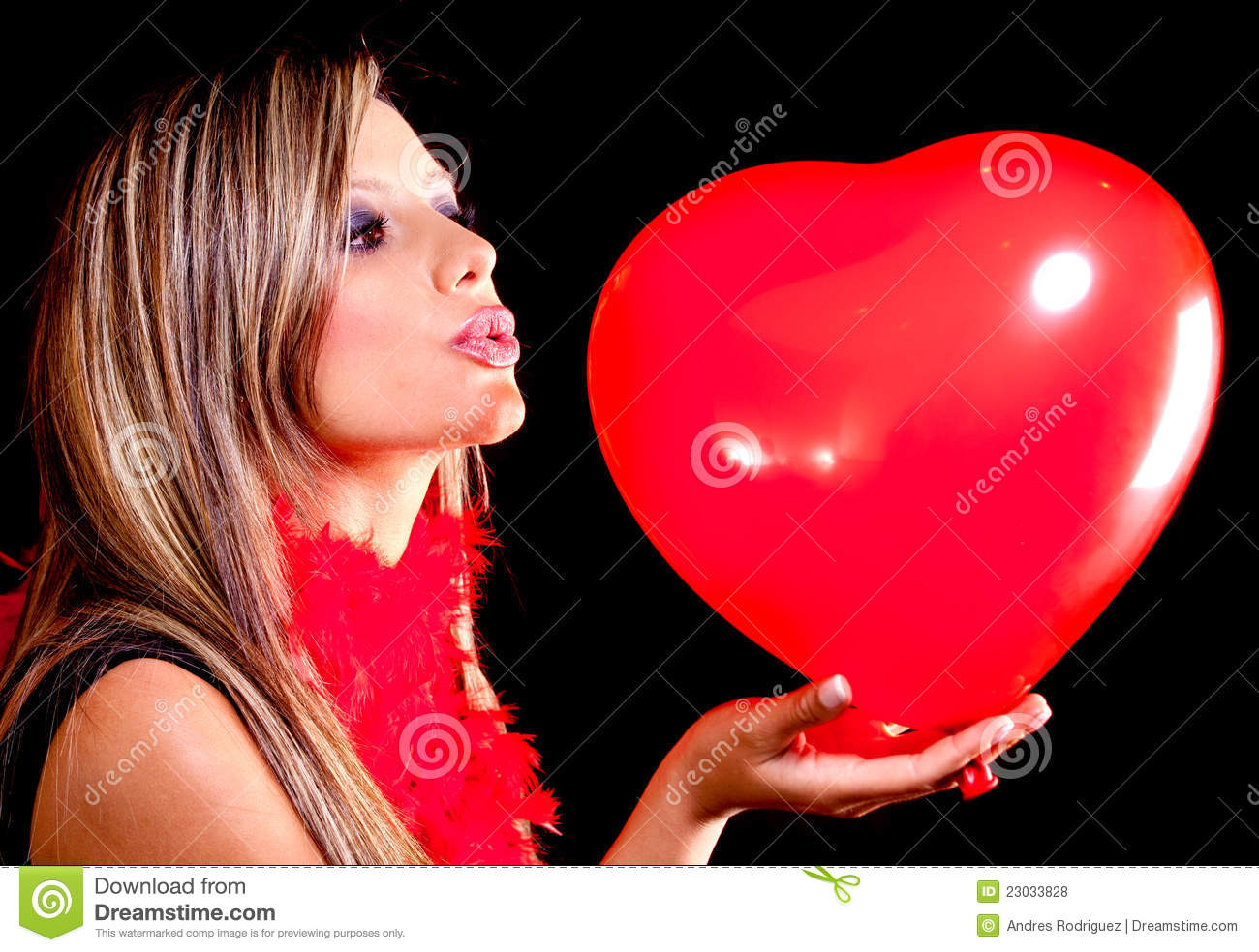 Woman Celebrating Valentines Day Royalty Free Stock Photos ...