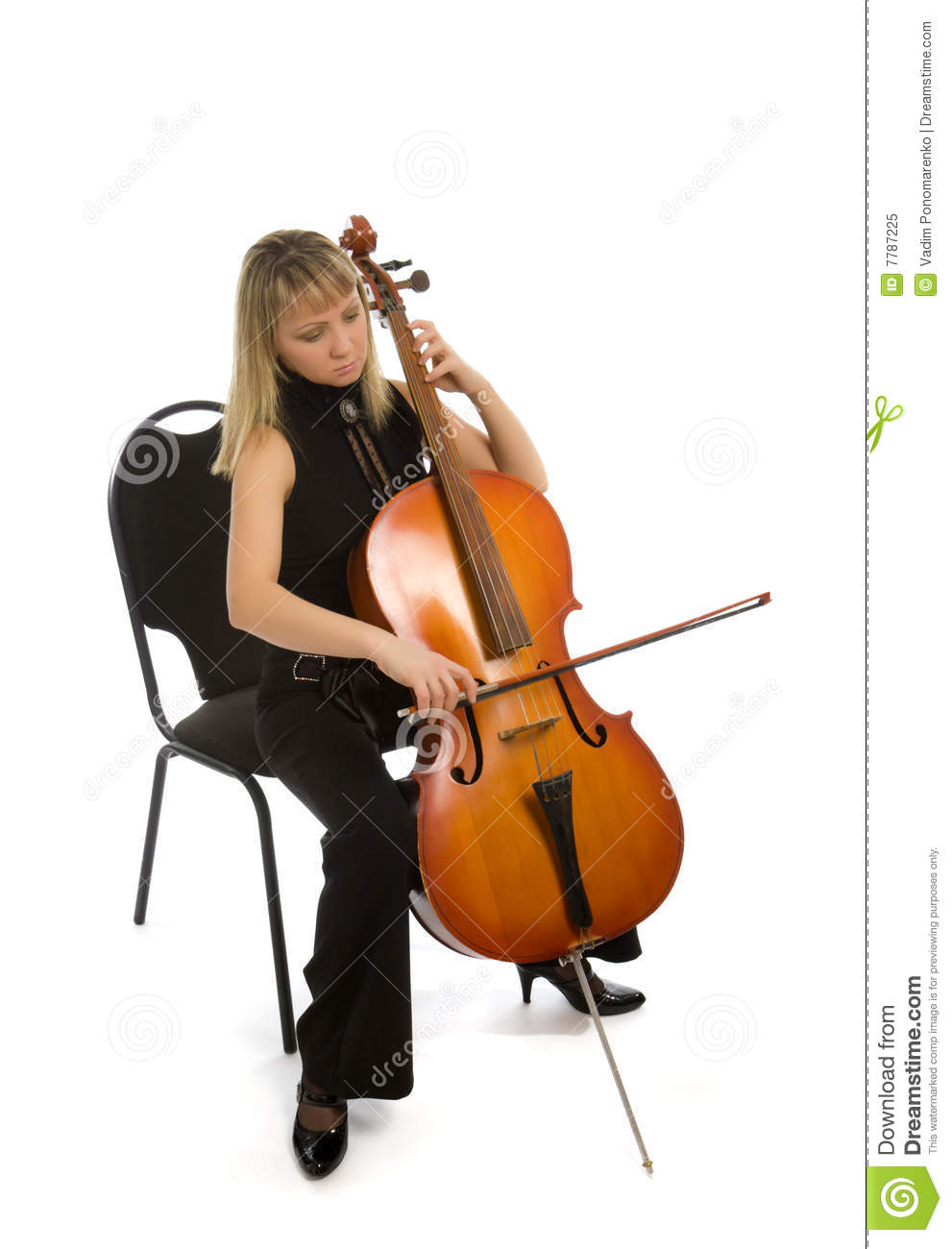 Woman cellist stock image. Image of theatrical, playing ...
