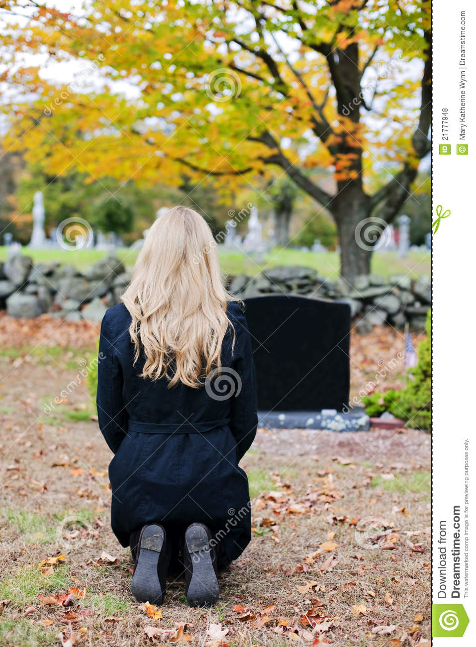 woman in cemetery royalty free stock photos image 21777948