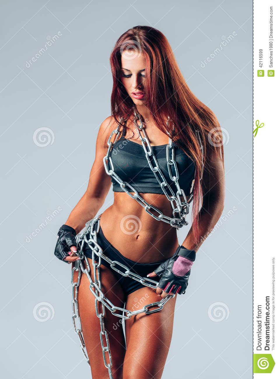 muscle women in chains