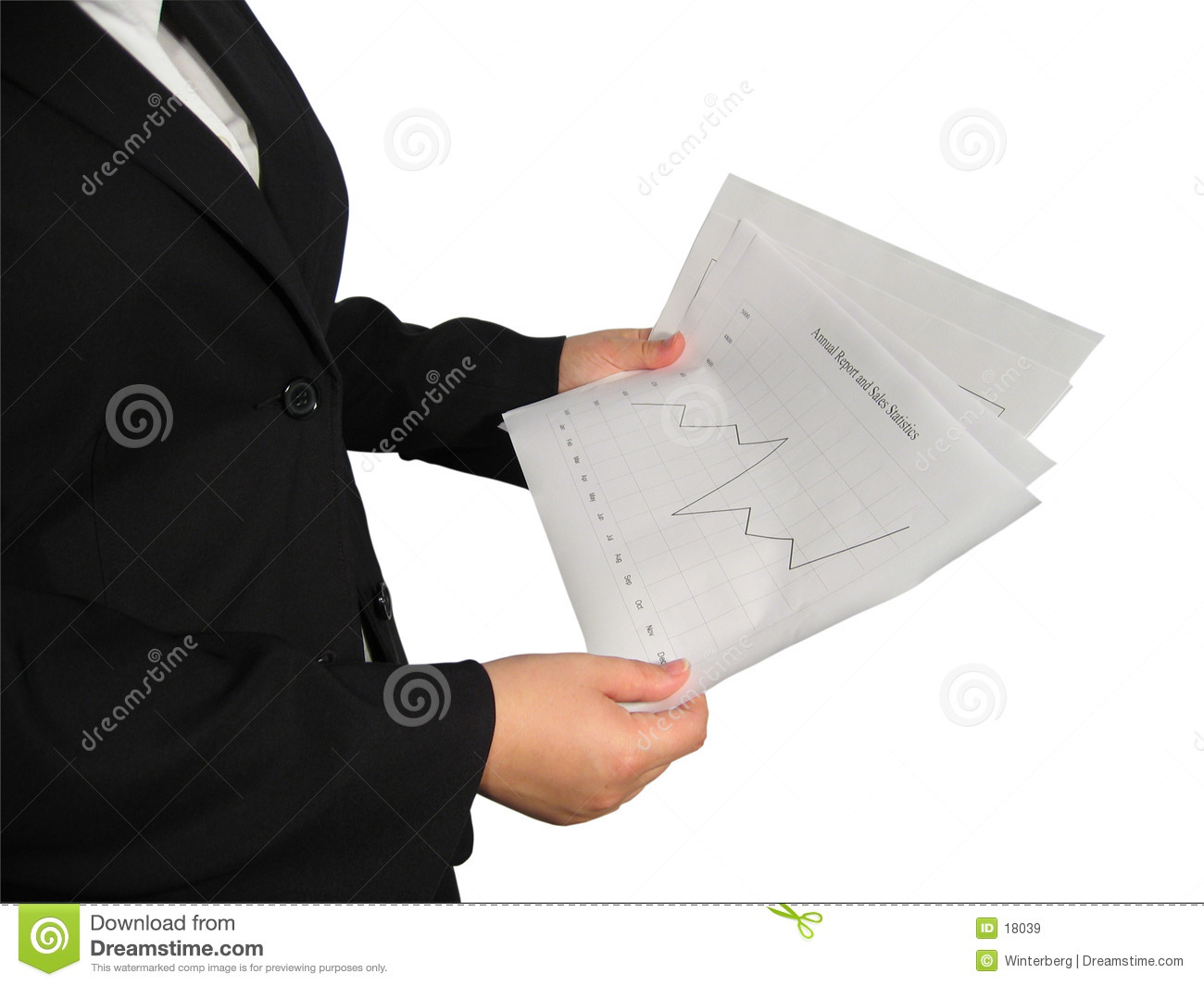 Woman with Chart