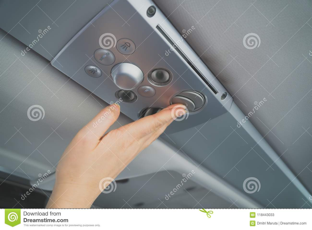 Woman Checking Air-conditioning System  Stock Image - Image