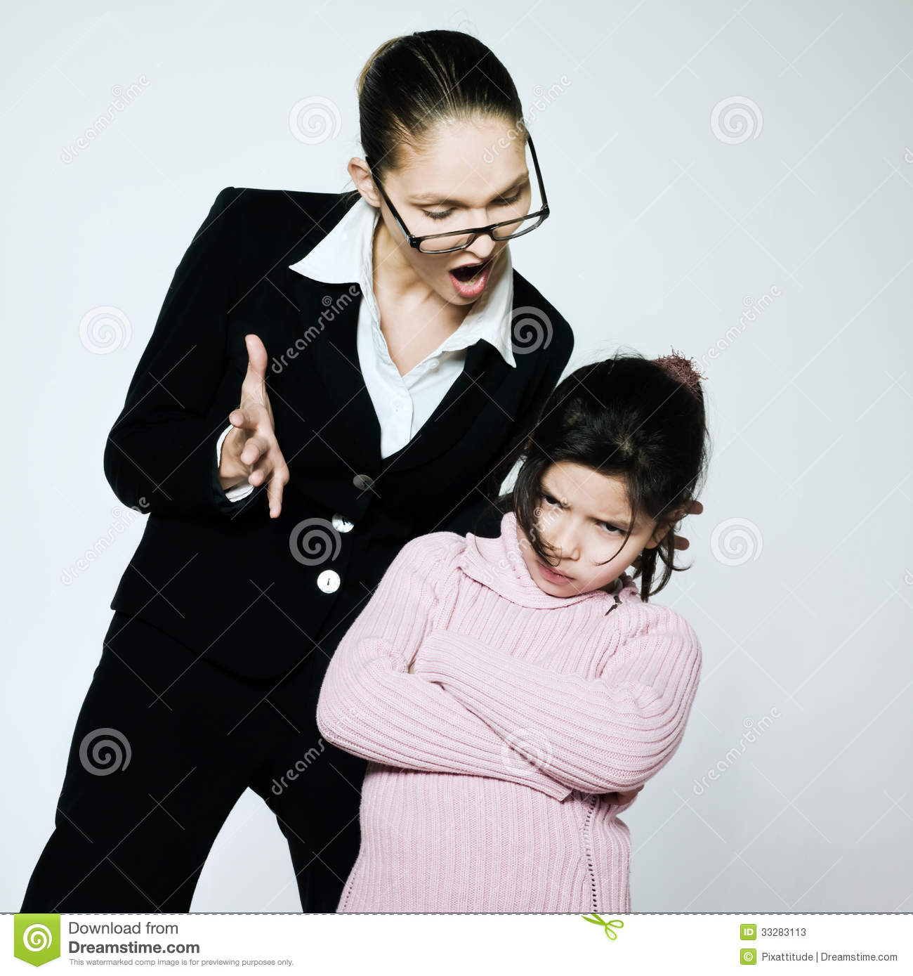Woman Child Conflict Dispute Problems Stock Image - Image of