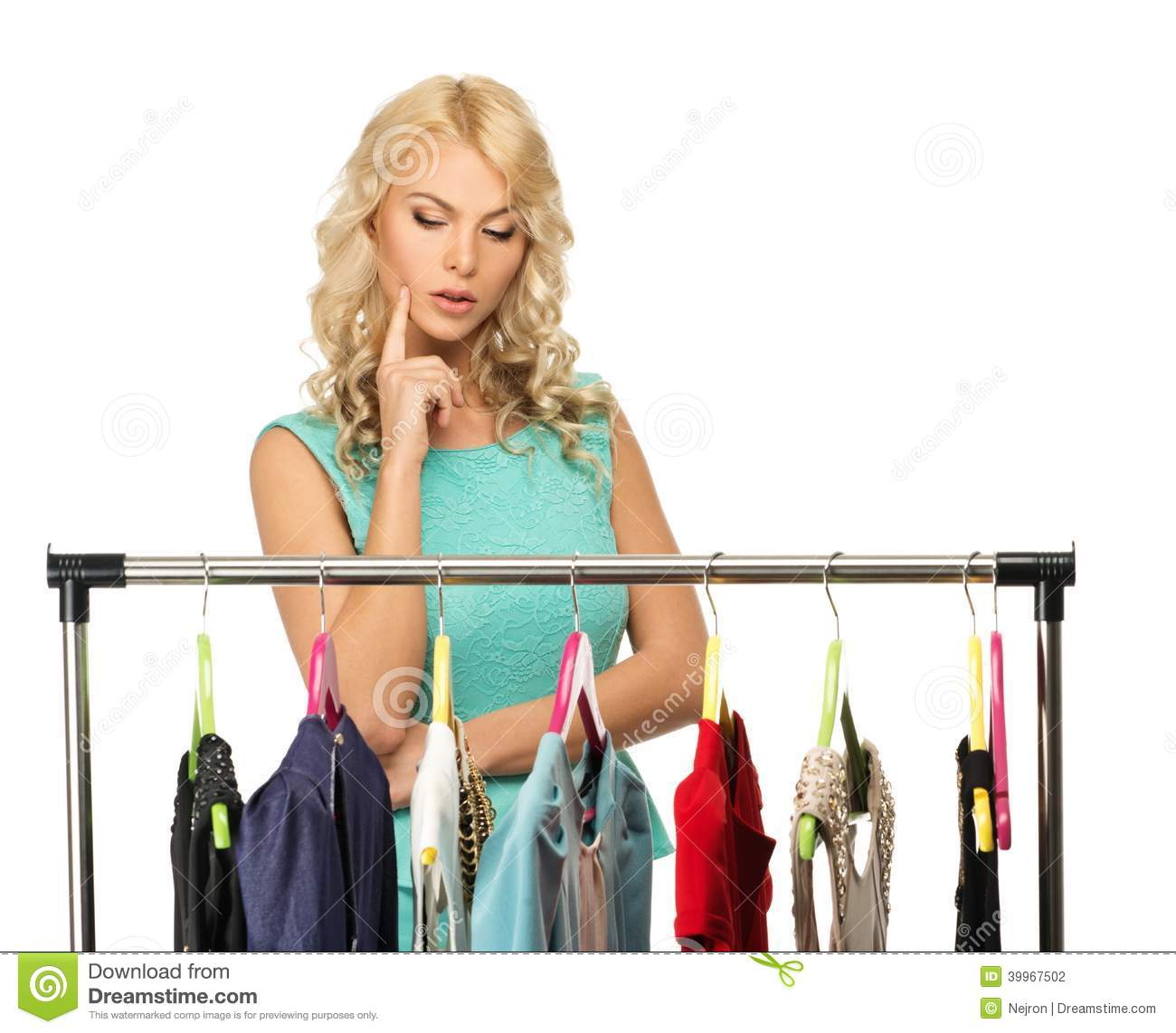 Woman Choosing Clothes Stock Photo Image 39967502