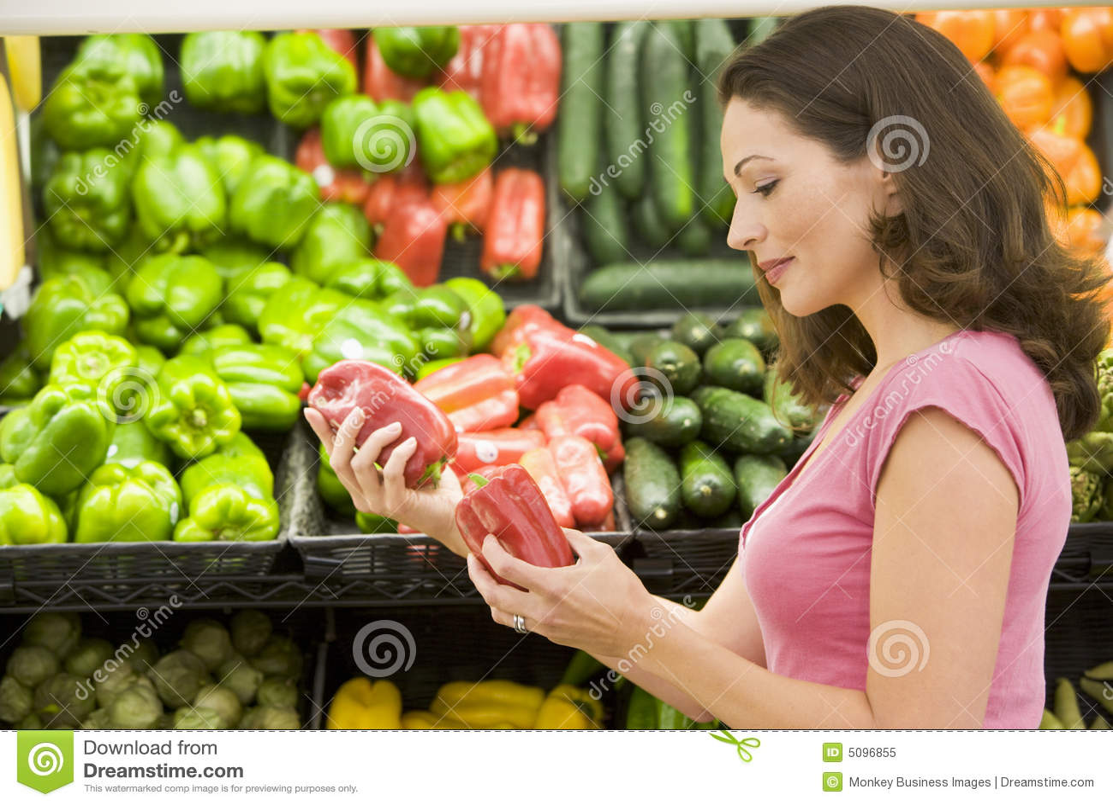 Woman choosing fresh produce