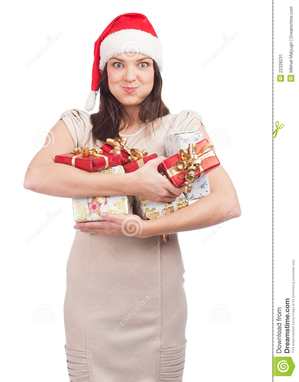 Woman With Christmas Gifts Stock Image Image 22328231