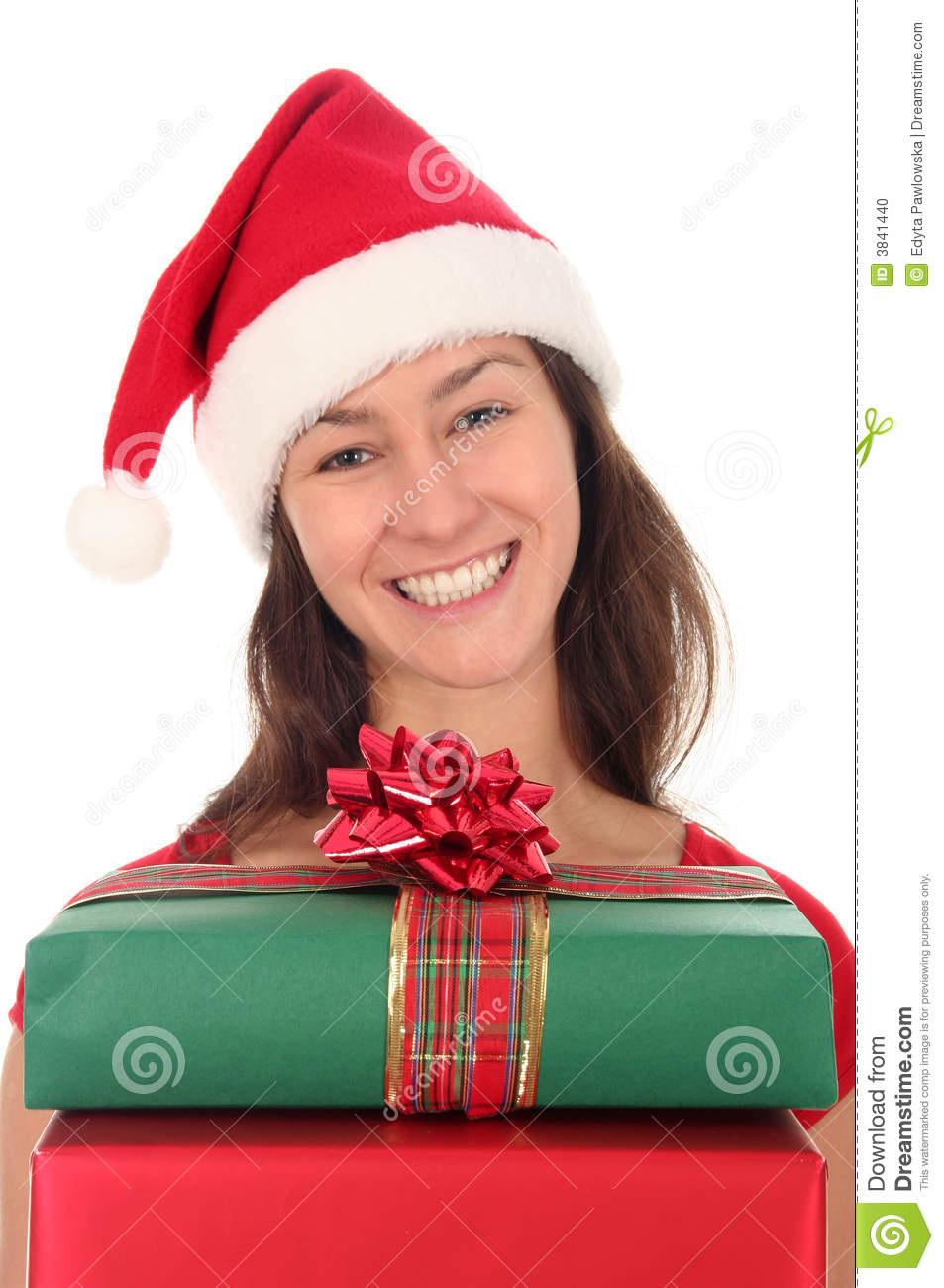 Woman With Christmas Gifts Stock Photo Image 3841440