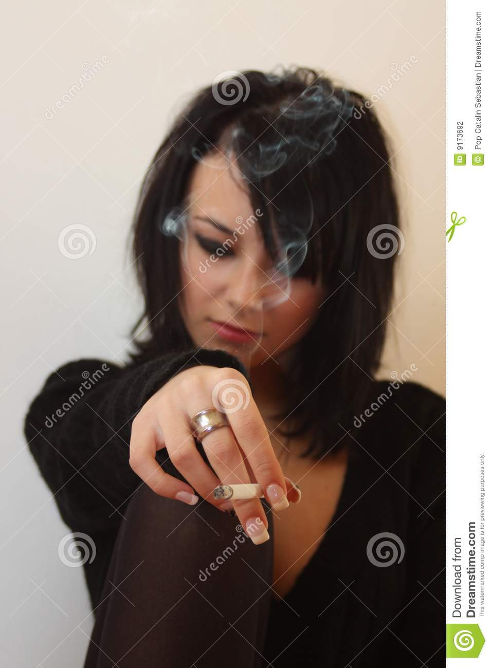 woman with cigar stock photography image 9173692