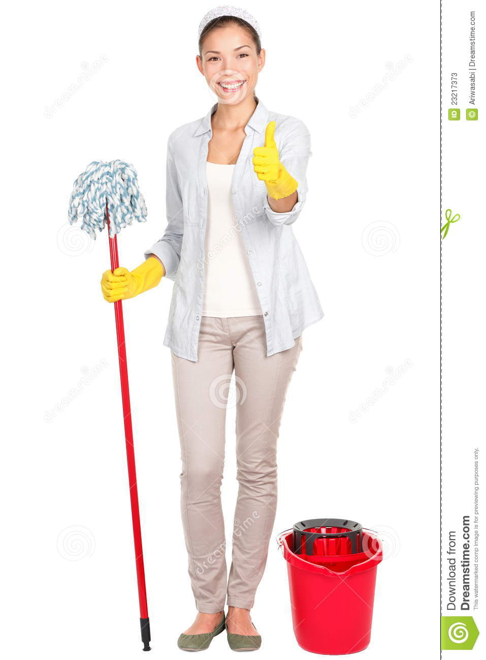 Woman Cleaning Stock Image Image Of Girl Clean Chores
