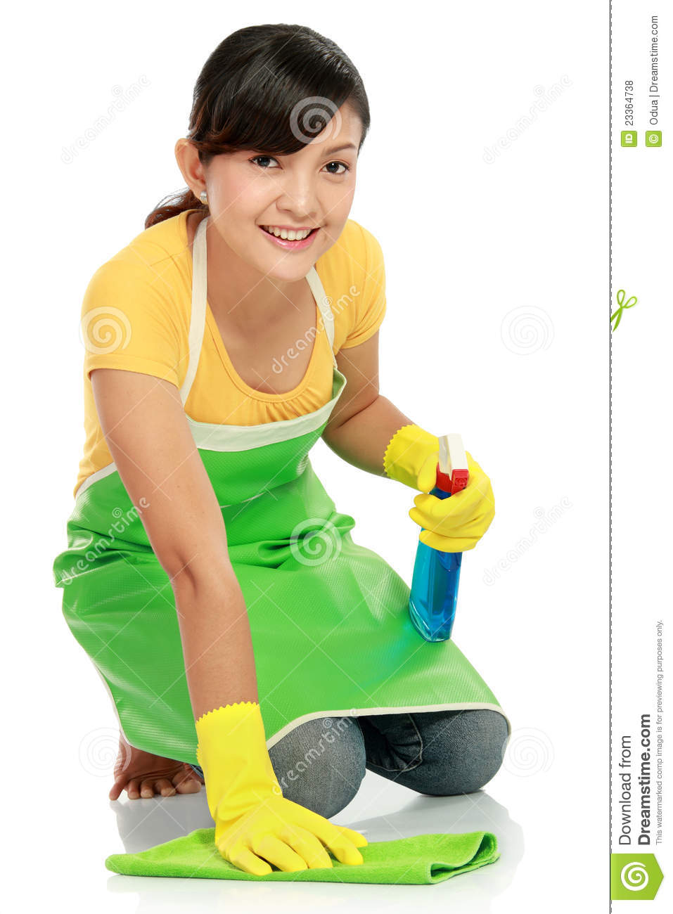 Royalty Free Stock Photos Woman Cleaning Floor Image23364738 on Massage Room Floor Plans