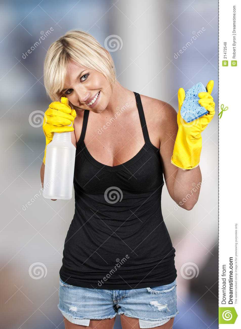 Woman Cleaning House Royalty Free Stock Photos Image