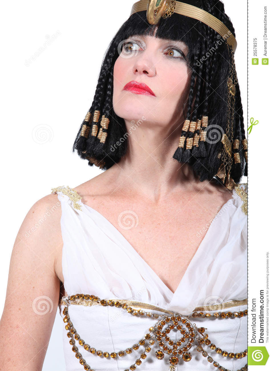 Woman in Cleopatra costume. Royalty-Free Stock Photo