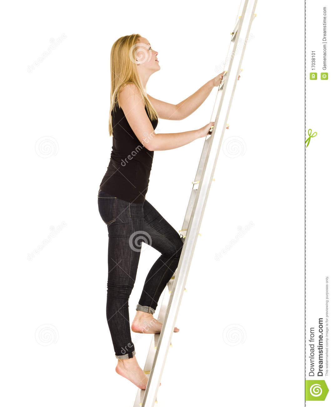w climbing up the ladder stock image image  w climbing up the ladder