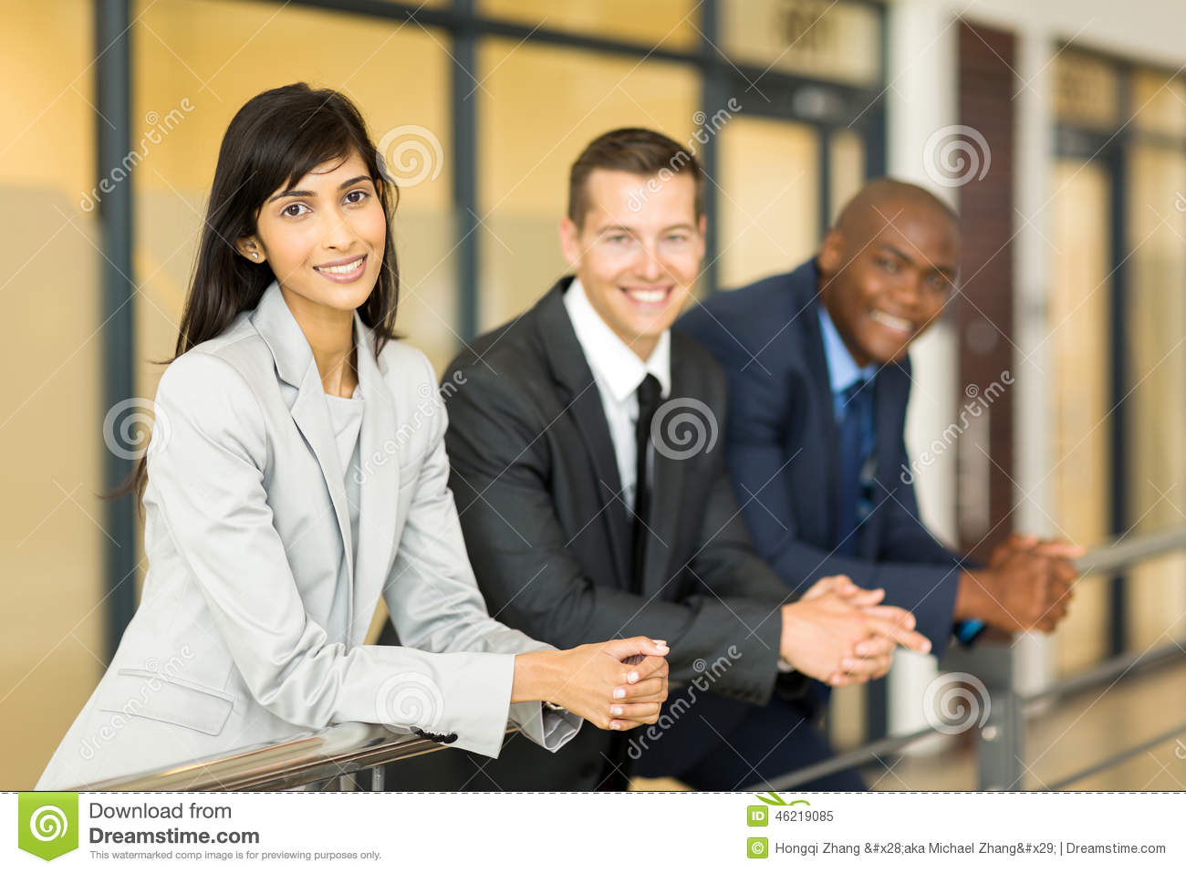 Woman with co-workers