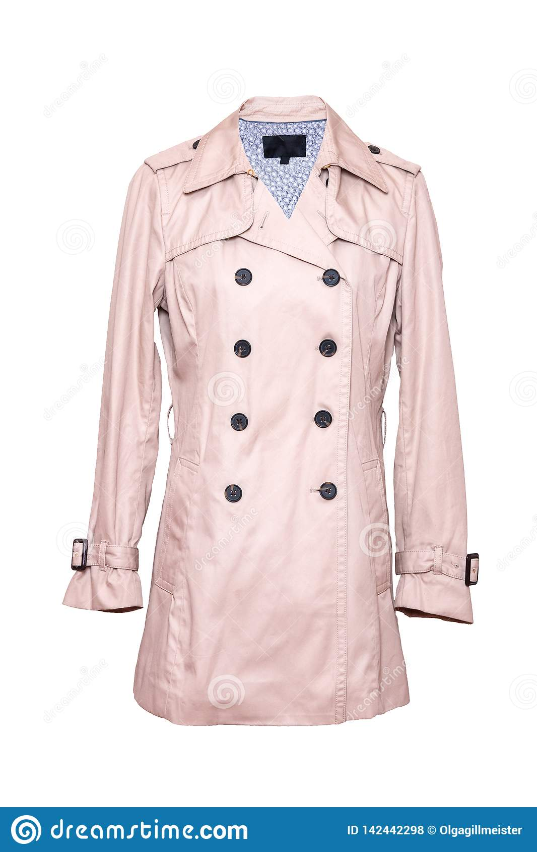 low priced 4f445 5dcf7 Woman Coat Isolated. A Luxurious And Stylish Elegant Female ...