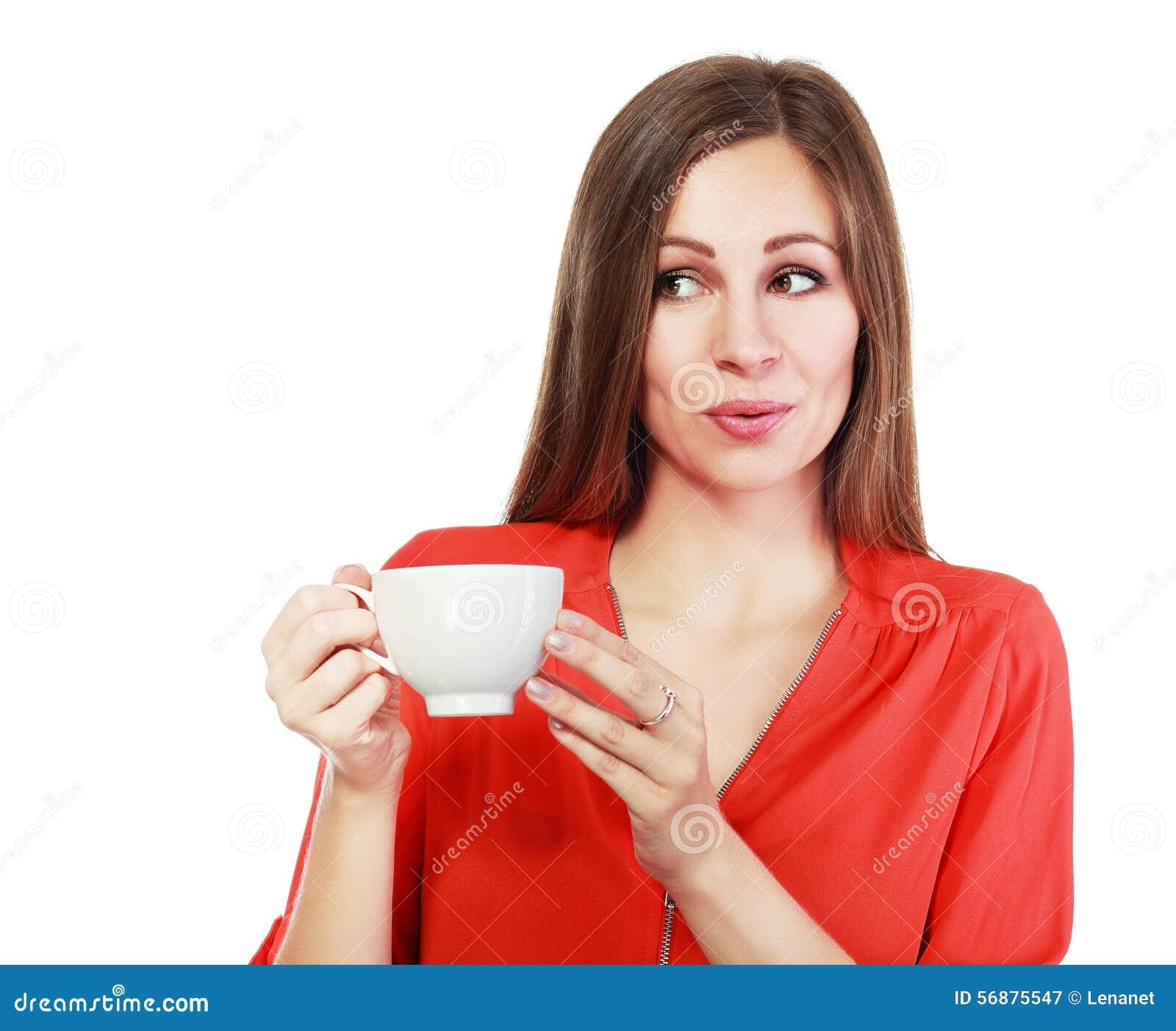 Woman coffee cup