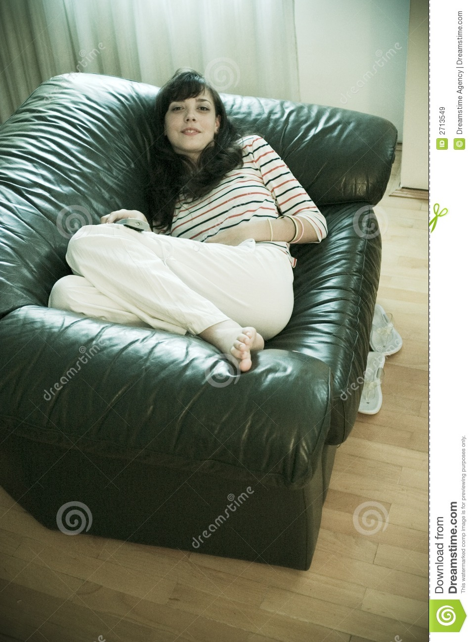 Woman Comfy On Sofa Royalty Free Stock Images Image 2713549