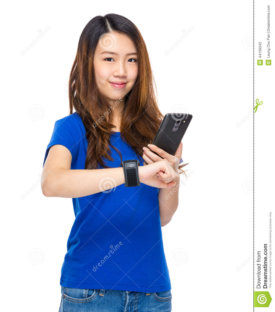 Woman With Wearable Device Royalty-Free Stock Photography ...