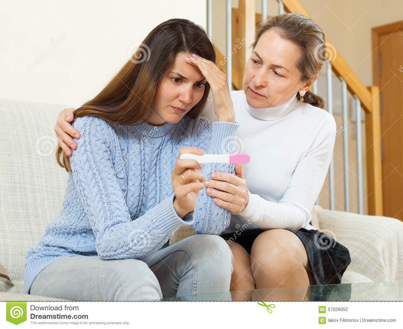 Mature woman and teen
