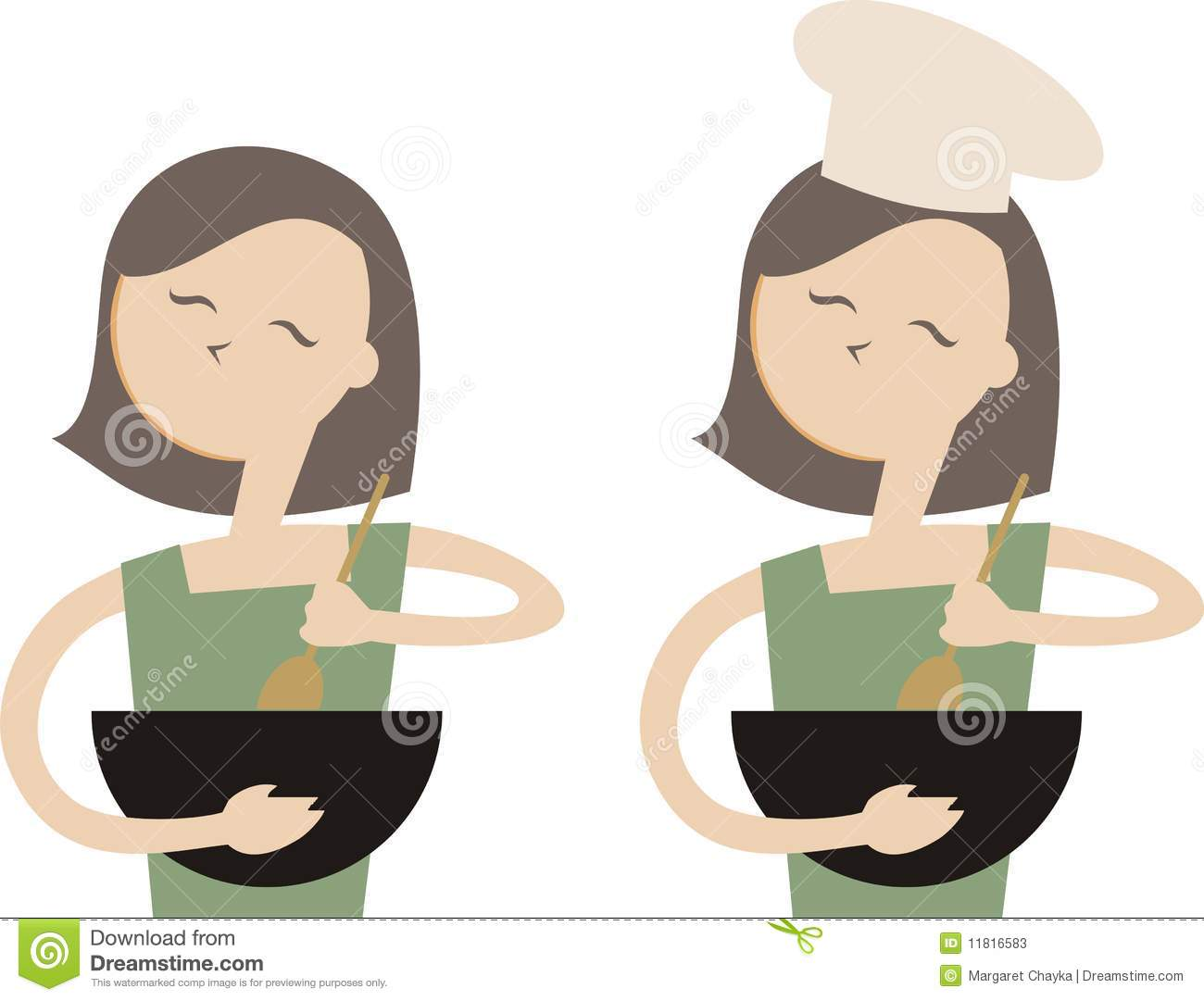 Mixing Spoon Clip Art Woman Cooking Baking Mixing