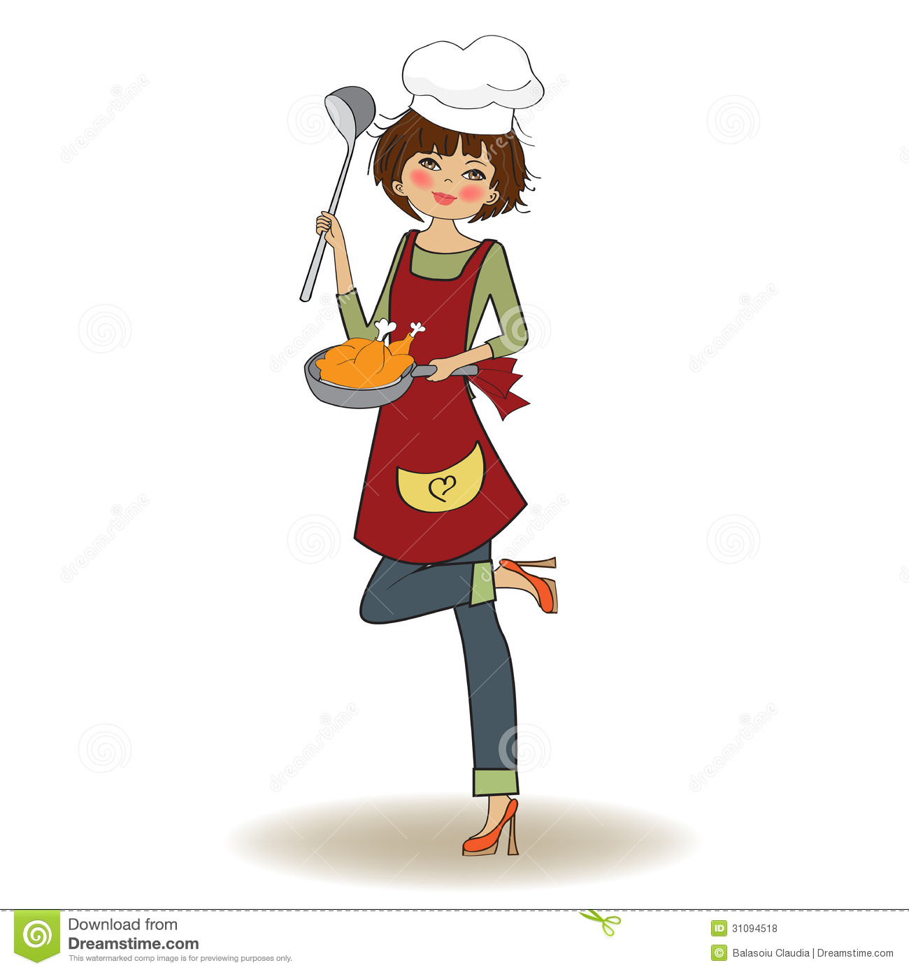Woman Cooking Royalty Free Stock Photos - Image: 31094518