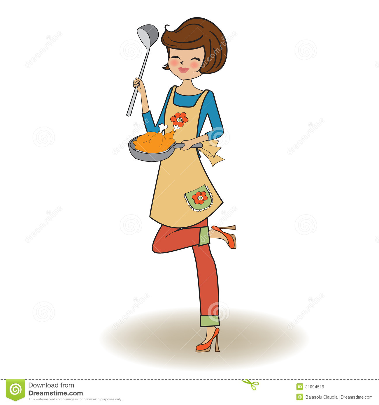 Woman Cooking Royalty Free Stock Images - Image: 31094519