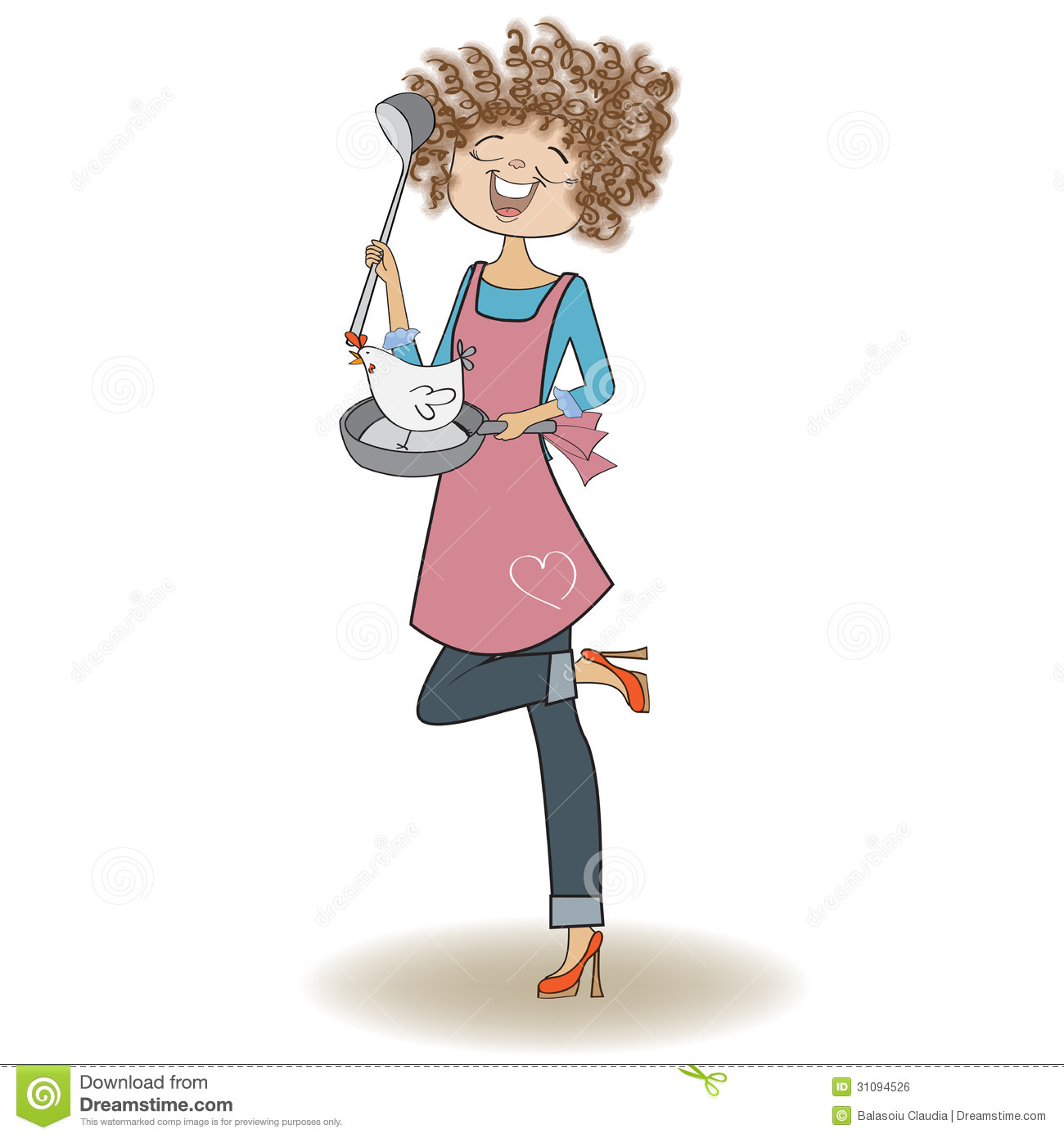 Woman Cooking Royalty Free Stock Image - Image: 31094526