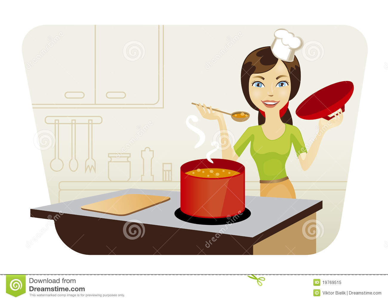Selection of cartoons on cooking kitchens food and eating - Beautiful Cooking Kitchen