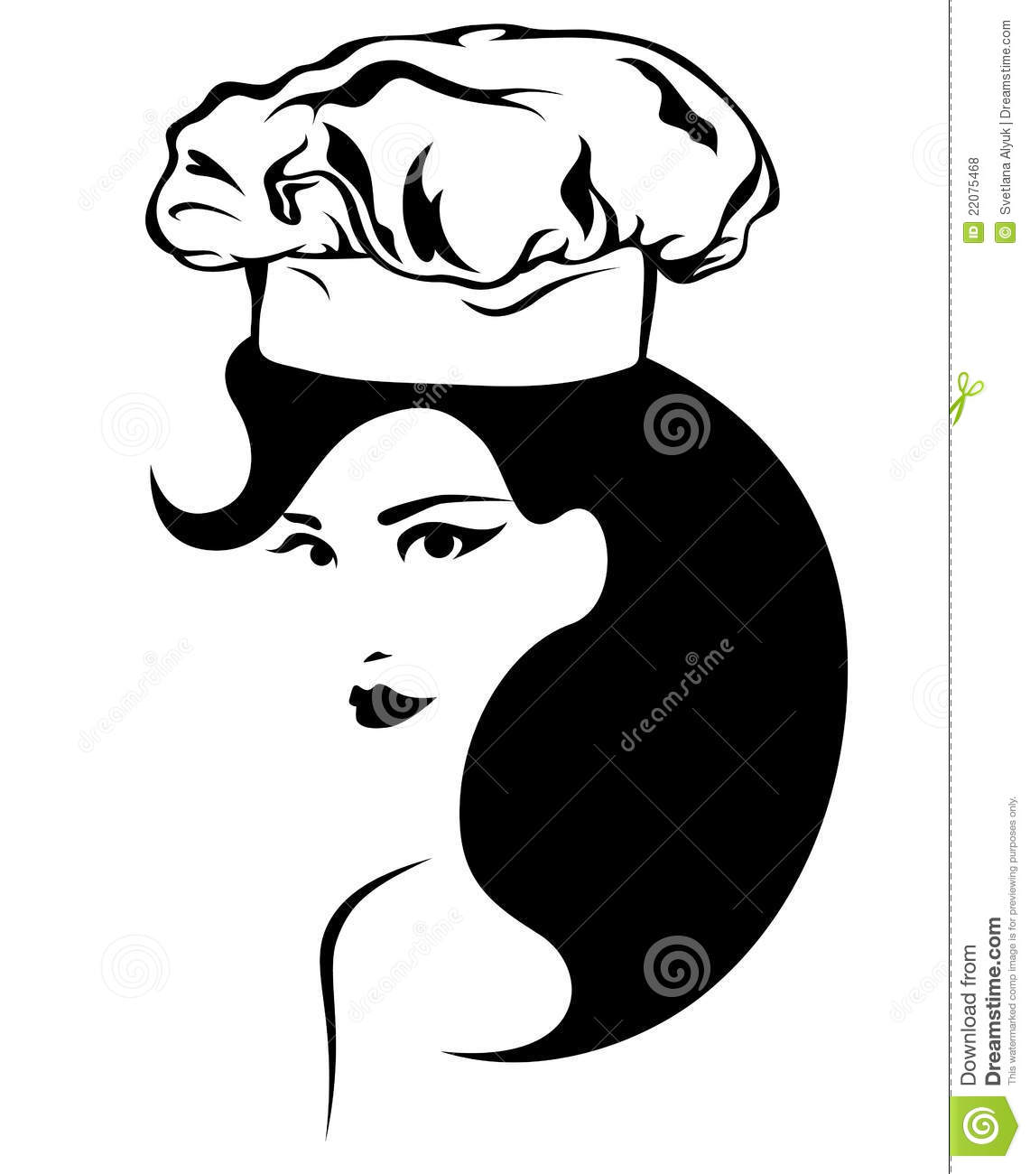Woman Cooking Vector Royalty Free Stock Photos - Image ...