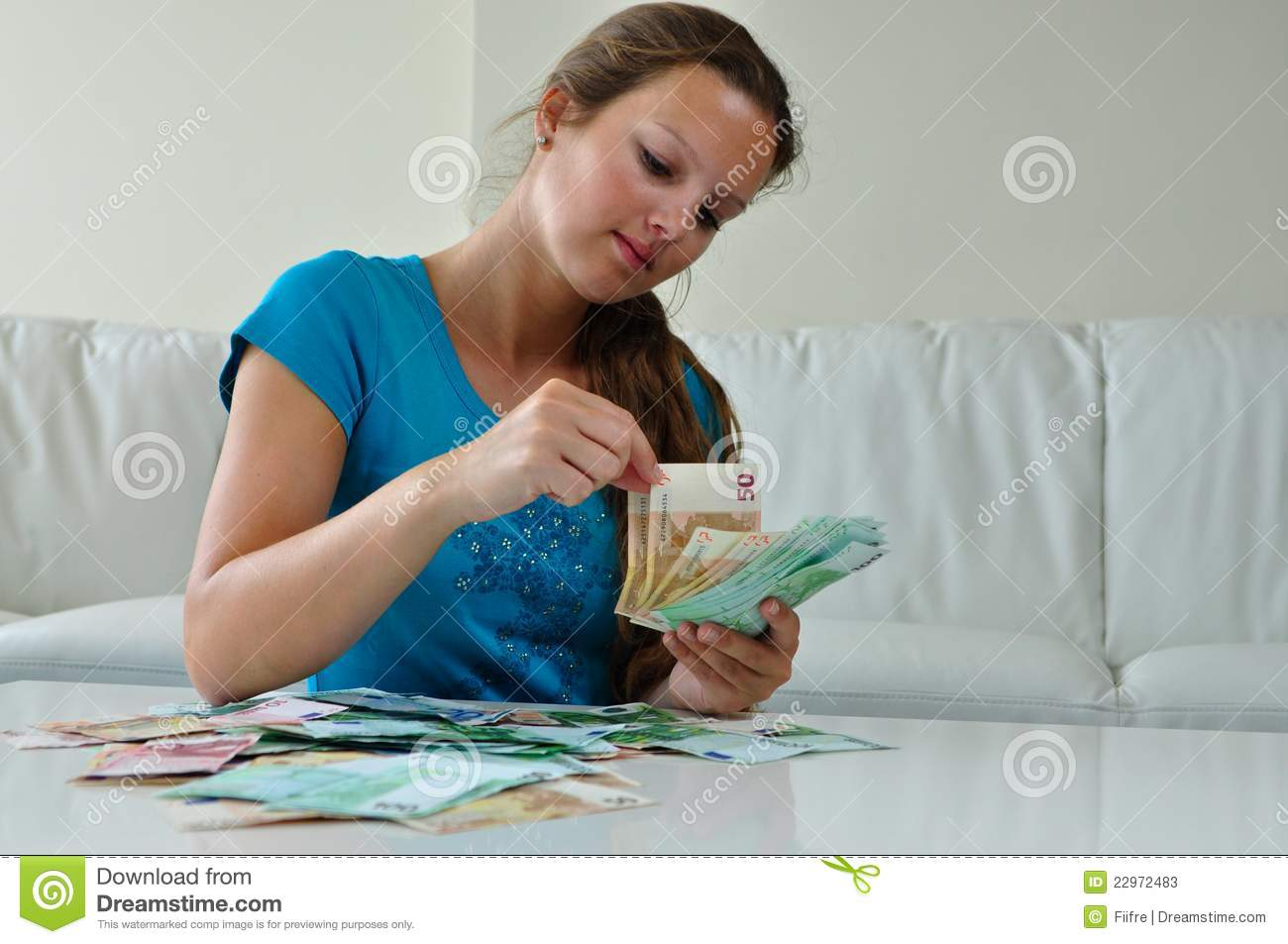 woman counting money stock image  image of spending  count