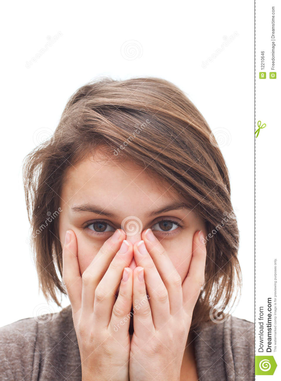 covering face with hands woman covering her face with hands royalty free stock 7841