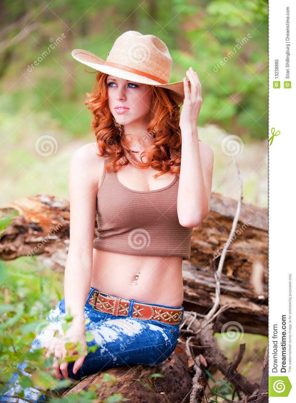 Woman with cowboy hat stock image. Image of hair 35d4dbfc361d