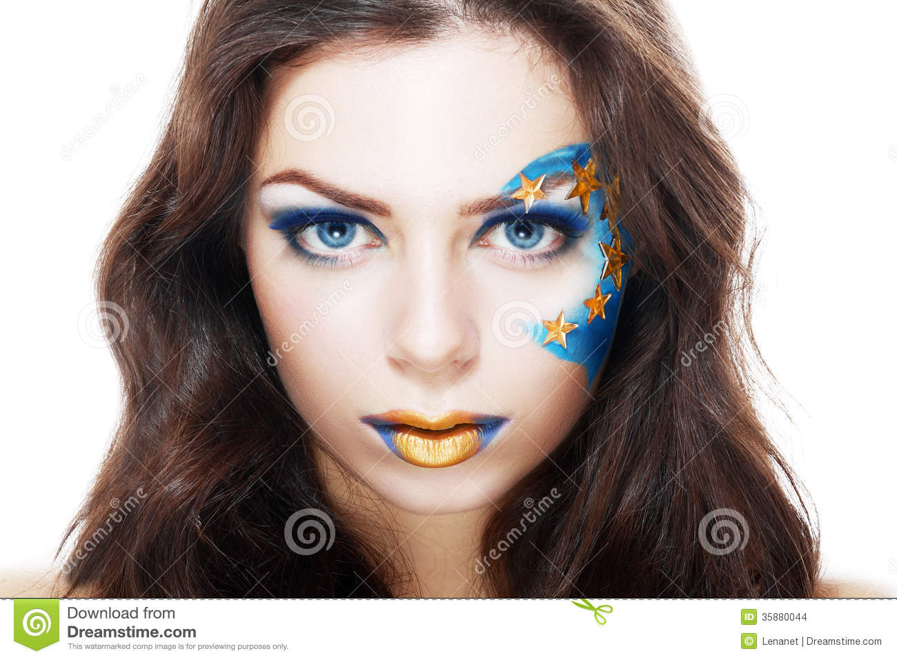 Woman with creative art make up stock images image 35880044 for Beautiful creative art