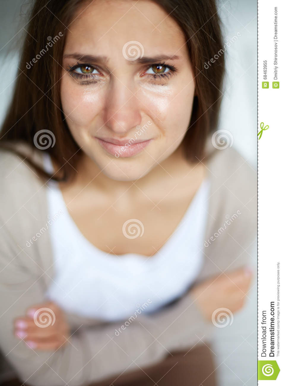 Woman Crying Stock Image. Image Of Problem, Heartache