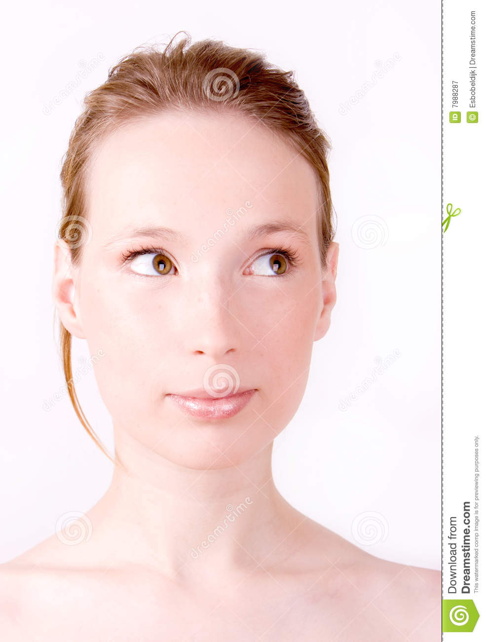 Woman Curious Face Bright Royalty Free Stock Photography ...