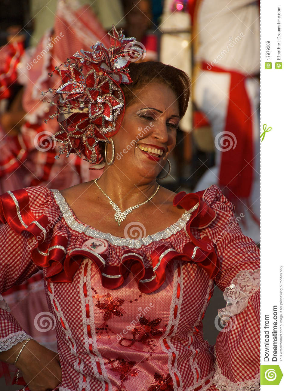 Woman dancing in the carnival parade