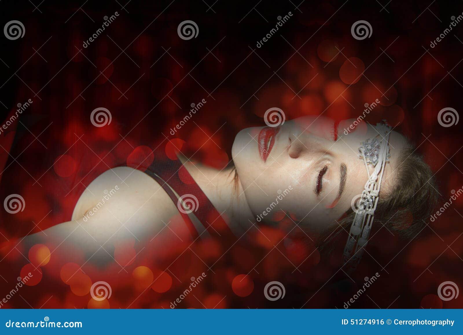 Woman death fantasy