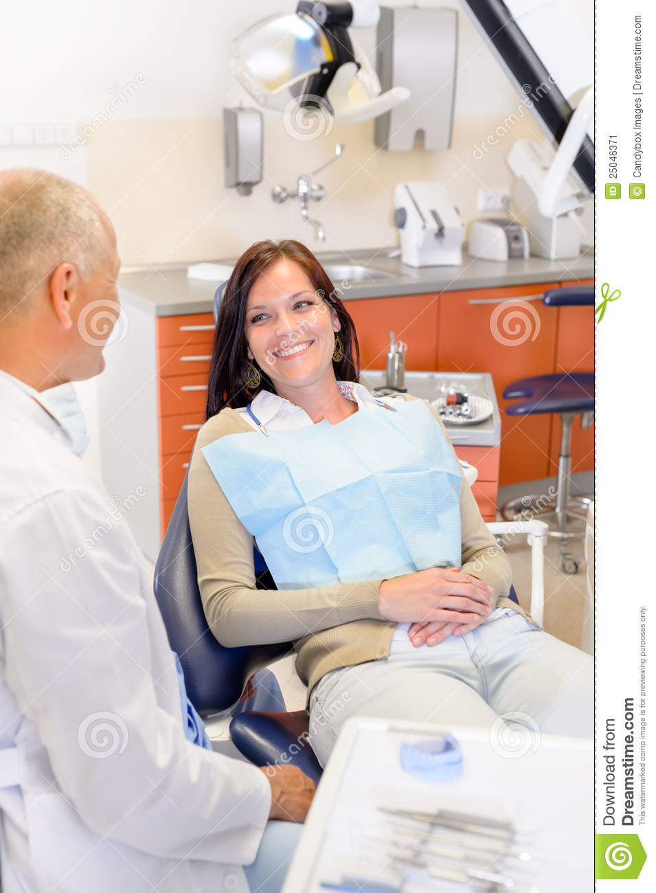 Woman At Dentist Surgery Stock Image Image 25046371
