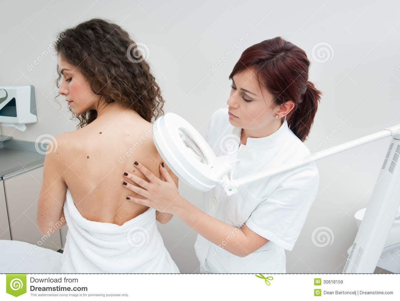 woman-dermatology-examination-dermatologist-doctor-inspecting-women ...