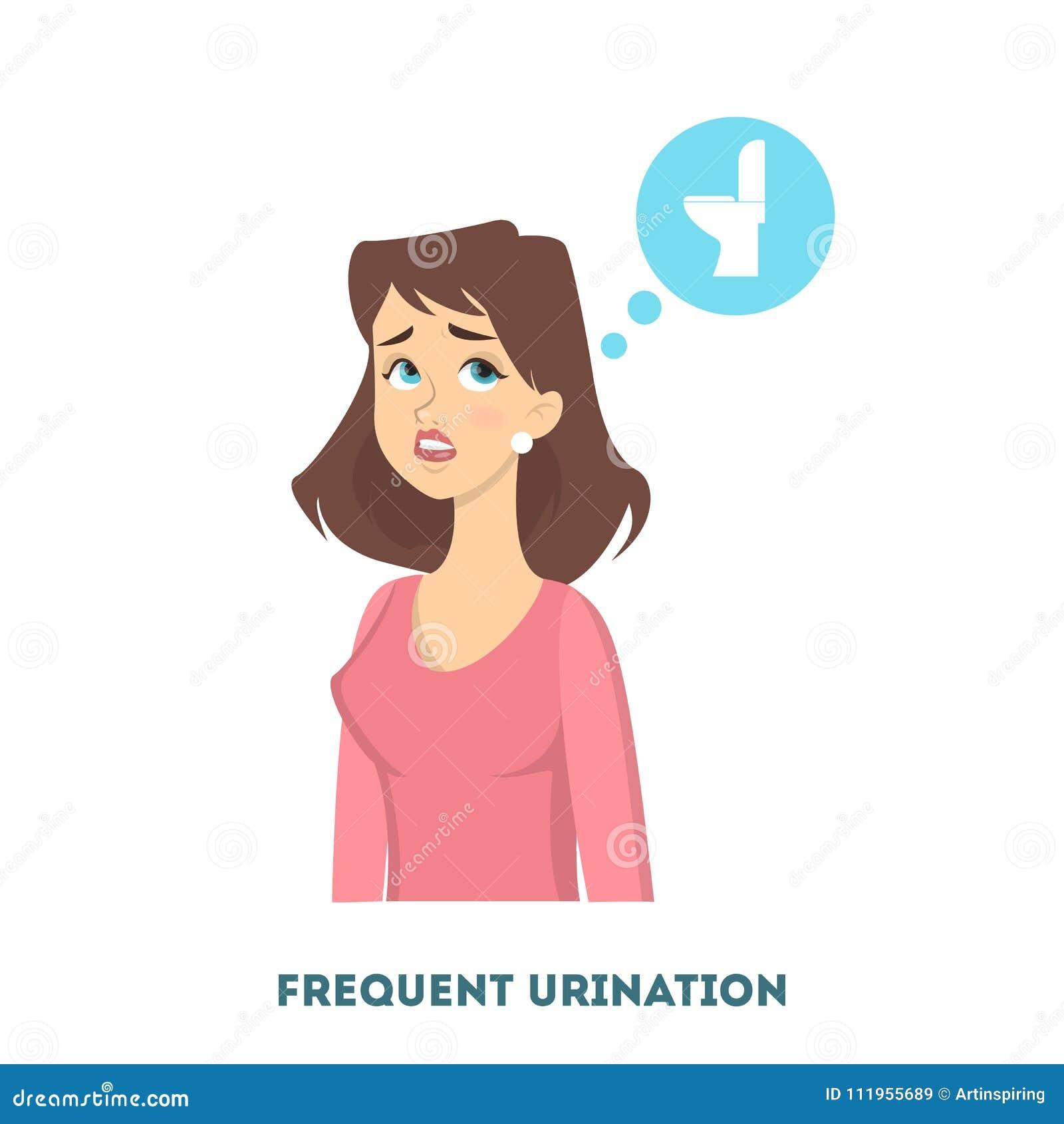 woman diabetes symptoms stock vector illustration of background