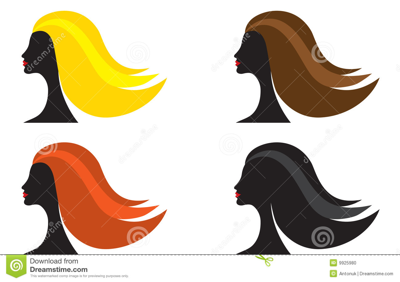 Woman With Different Hair Color Stock Vector Illustration Of Different Yellow 9925980