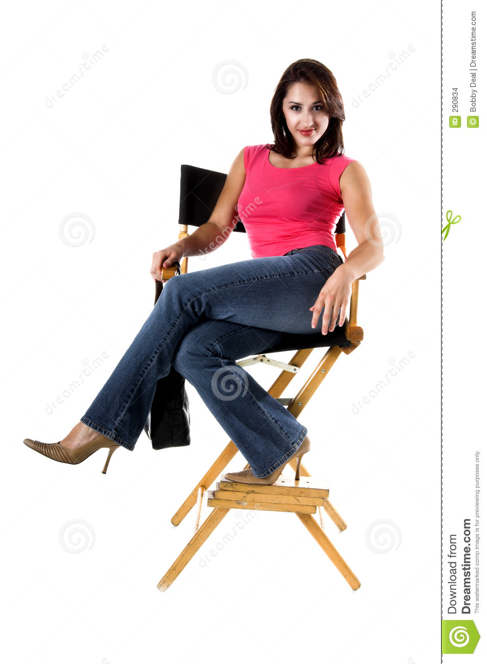 woman in directors chair stock images image 290834