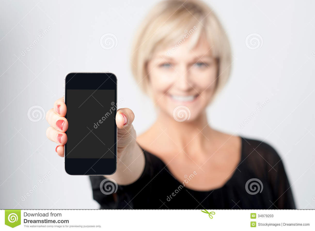 mobile lady