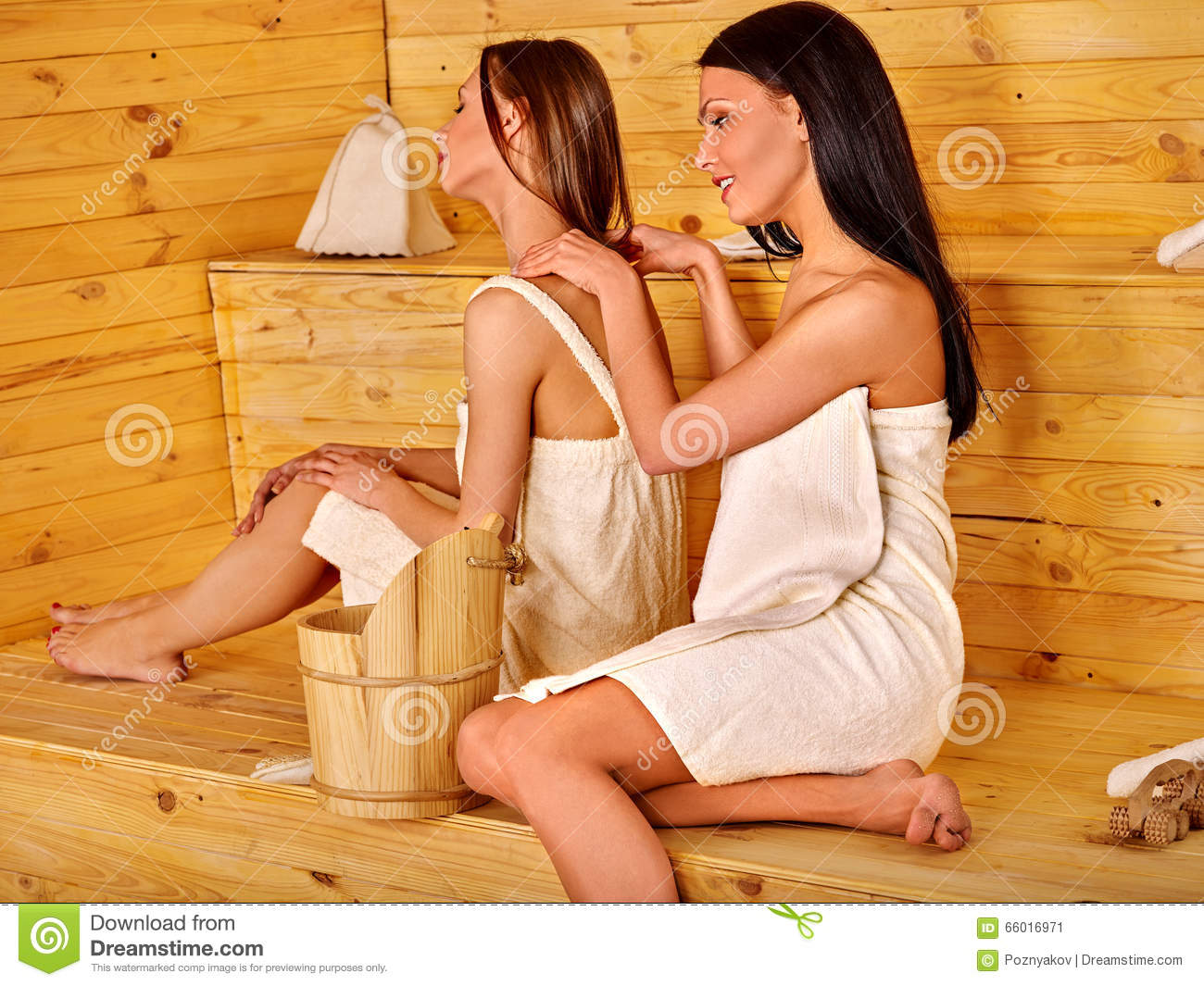 girls massaging each other