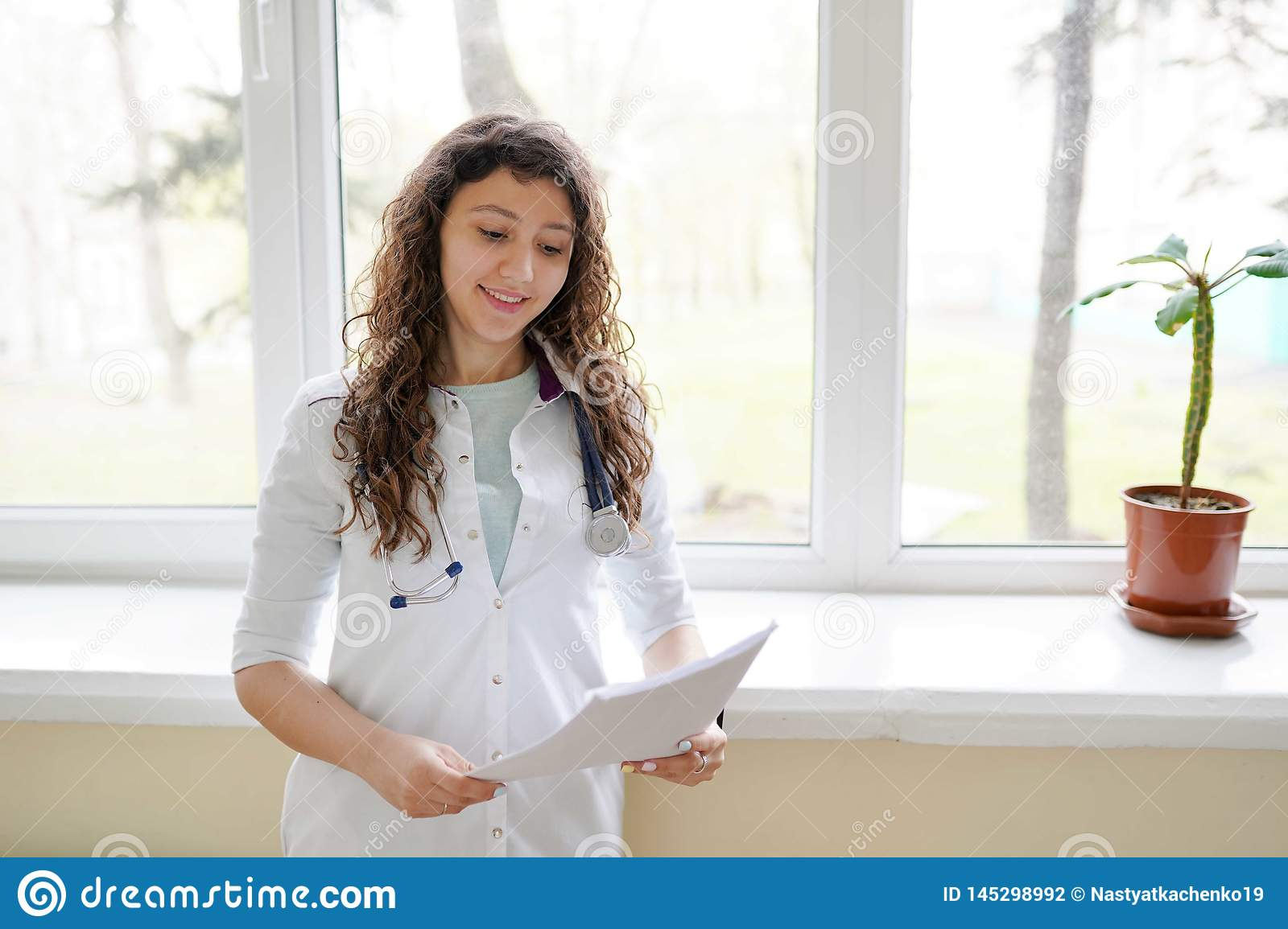 Woman doctor working at the hospital office. Medical healthcare and doctor staff service